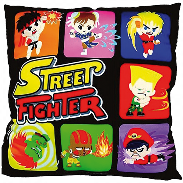 STREET FIGHTER PILLOW FIGHTERS BLACK