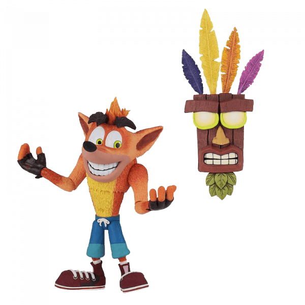 CRASH BANDICOOT FIGURE CRASH AND AKUAKU