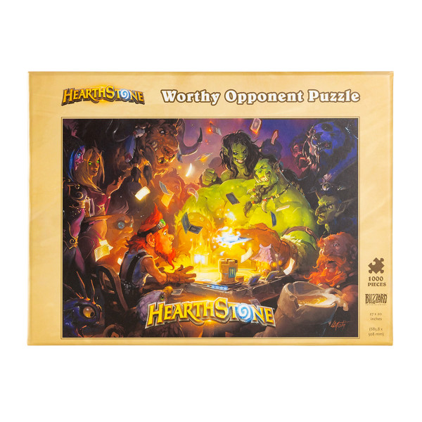 """Hearthstone Puzzle """"Worthy Opponent"""""""