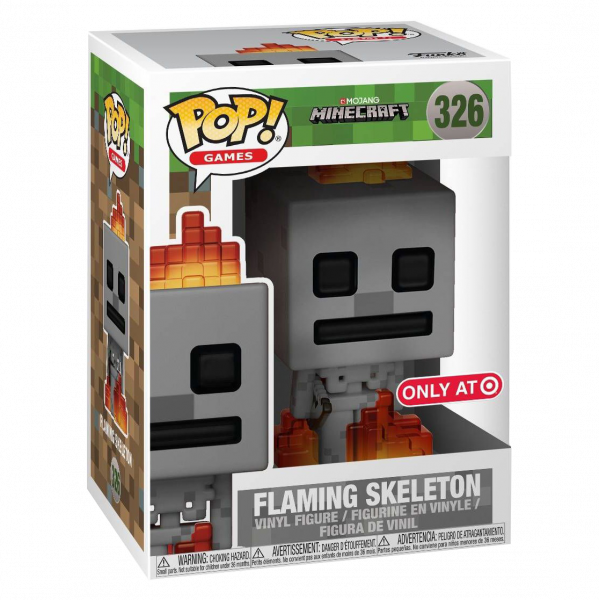 "Minecraft Figure ""Skeleton w Fire"" Exclusive POP! Vinyl"
