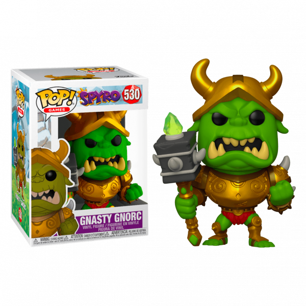 SPYRO THE DRAGON FIGURE GNASTY GNORC POP VINYL