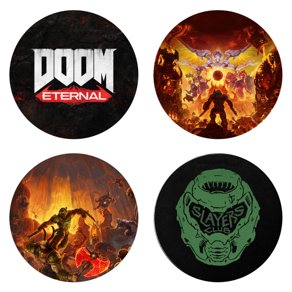 "DOOM Eternal Coaster Set ""Slayers Club"""