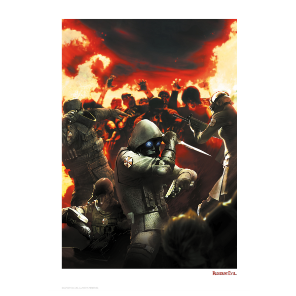 RESIDENT EVIL LITHOGRAPH UNDER ATTACK