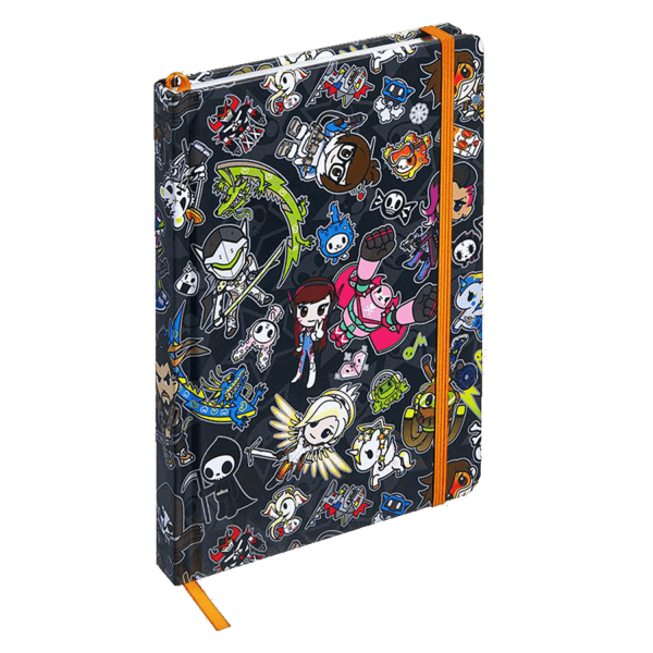 OVERWATCH NOTEBOOK TOKIDOKI X OVERWATCH BLACK