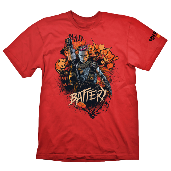 CALL OF DUTY BLACK OPS 4 T-SHIRT BATTERY RED
