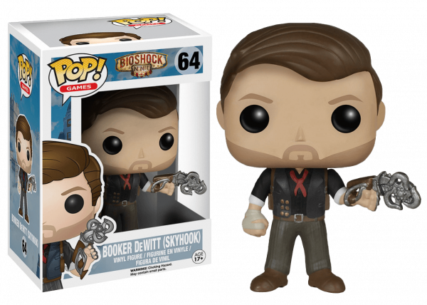 BIOSHOCK POP FIGUR BOOKER DEWITT AND SKYHOOK 9 CM