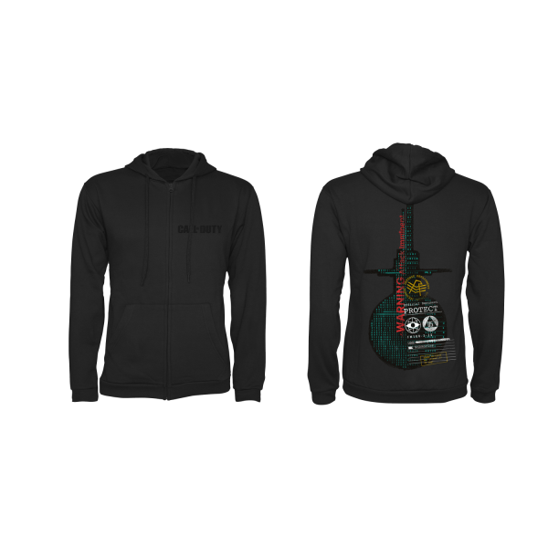 "Call of Duty: Cold War Zipper Hoodie ""Protect"" Black"