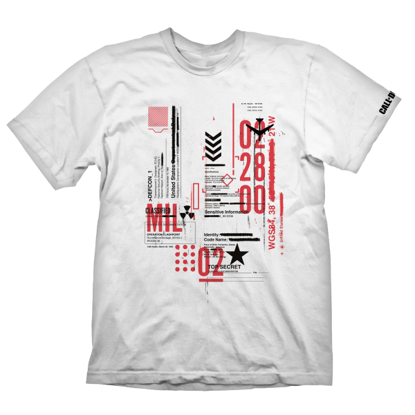 "Call of Duty: Cold War T-Shirt ""Defcon-1"" White"