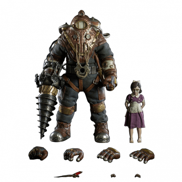 BIOSHOCK ACTION FIGURE SUBJECT DELTA AND LITTLE SISTER 3A