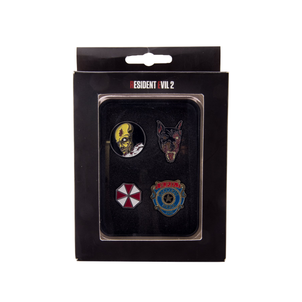 RESIDENT EVIL 2 PIN COLLECTIBLE PIN SET (4 PINS)