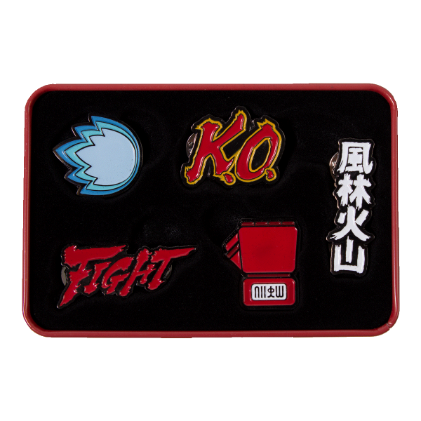 Street Fighter Collector Tin Box Icons