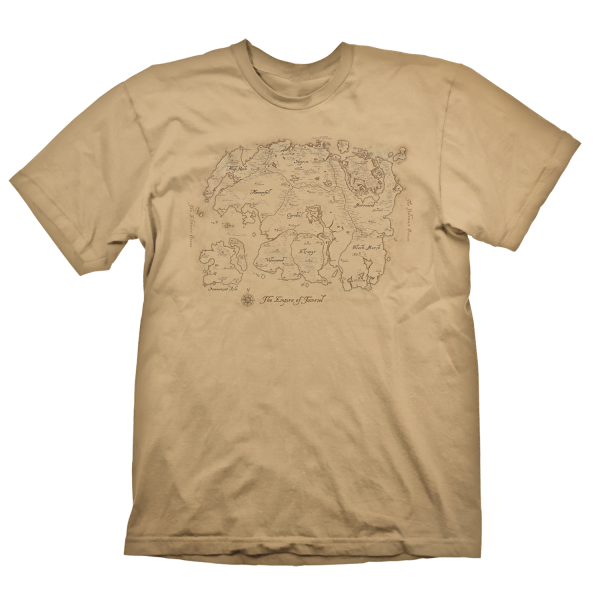 THE ELDER SCROLLS T-SHIRT MAP OF TAMRIEL SAND
