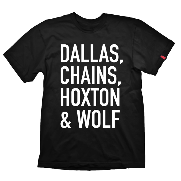 "Payday 2 T-Shirt ""Dallas Chains Hoxton & Wolf"