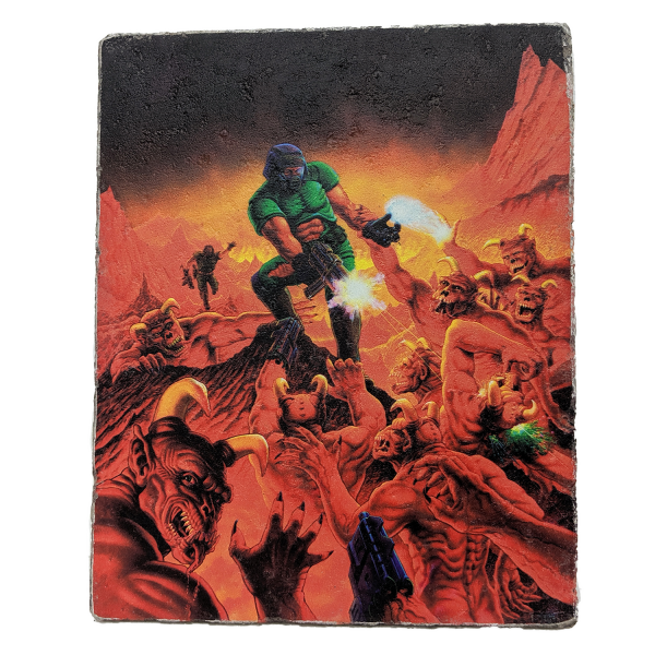 DOOM STONE SLAB RETRO