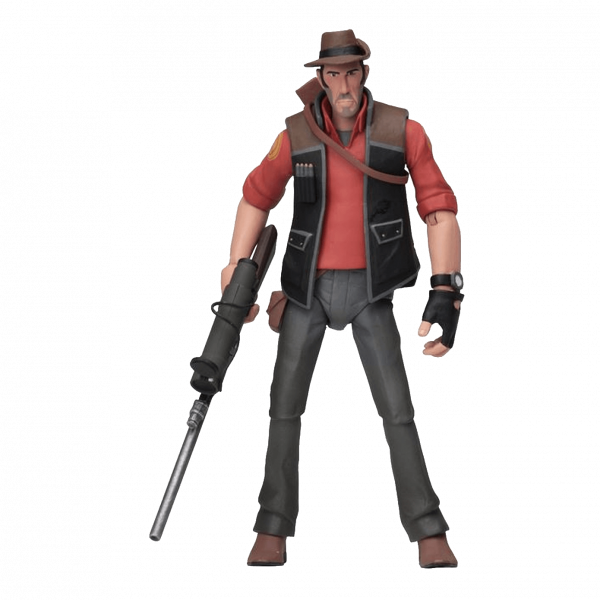 TEAM FORTRESS 2 FIGURE THE SNIPER RED