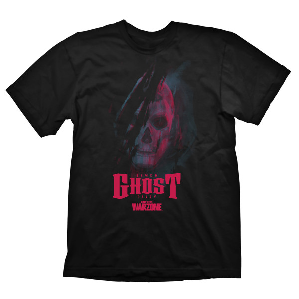 """Call of Duty Warzone T-Shirt """"Ghost"""" Black"""