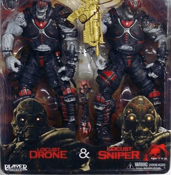 GEARS OF WAR FIGURE LOCUST DRONE AND LOCUST SNIPER