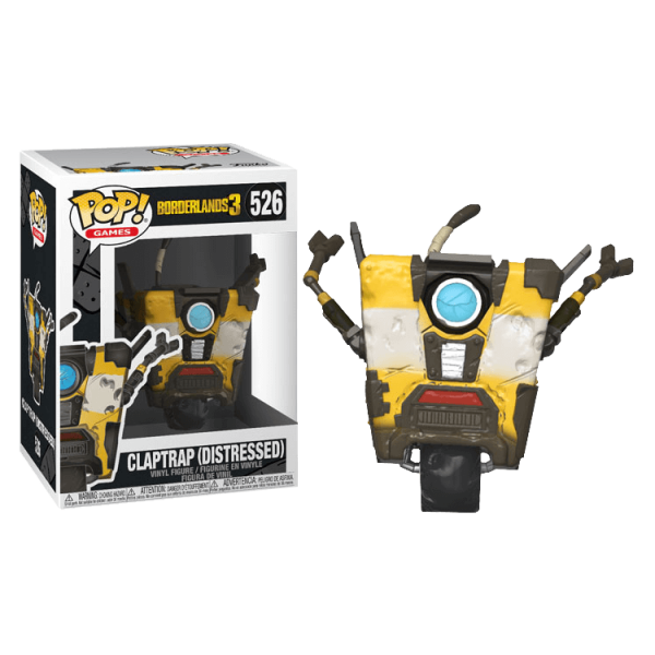 BORDERLANDS 3 FIGURE CLAPTRAP DISTRESSED POP VINYL