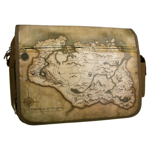 THE ELDER SCROLLS V SKYRIM MESSENGER BAG MAP