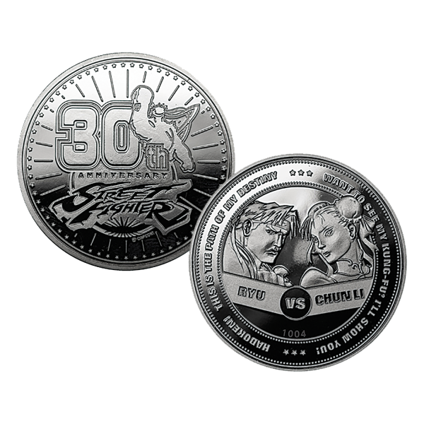 STREET FIGHTER COLLECTIBLE COIN 30TH ANNIVERSARY